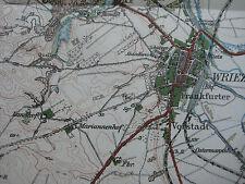 Landkarte Berlin und Umgebung in 12 Blättern Blatt 4  Freienwalde Wriezen 1914