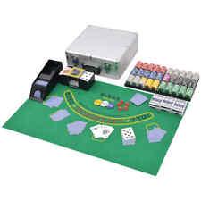 vidaXL Juego Combinado de Póker y Blackjack con 600 Fichas Láser Caja Aluminio