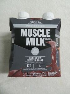 (4) Muscle Milk Pro Series Non-Dairy Protein Shake Chocolate 11 Oz Each @8