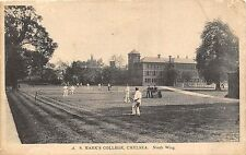 POSTCARD   LONDON   CHELSEA  A S Mark's  College North  Wing    TENNIS  Scene