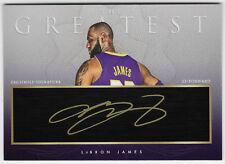 """2018-19 LeBron James """"The Greatest"""" Facsimile Auto Custom Art Card Lakers"""