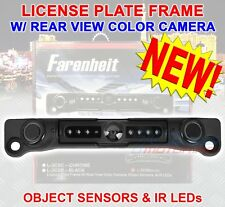 FARENHEIT L-3CSB BLACK LICENSE PLATE REAR NIGHT VIEW CAMERA PROXIMITY SENSOR NEW