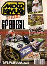 MOTO REVUE 2862 SUZUKI RM 125 ; KTM 600 Ecureuil ; Grand Prix du BRESIL 1988