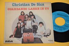 "CRISTIAN DE SICA 7"" 45 GUARDANDO LASSIE IN TV-SIGLE CARTONI 1°ST ORIG 1977 EX+"