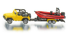 NEW* SUPER SIKU 1658 Jeep Wrangler & Speedboat / Trailer Diecast Model Vehicle