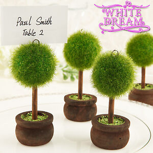 Unique Topiary - Place Card Holders | Wedding Favours | Table Decoration | Tree