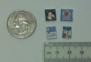 Dollhouse Miniature Christmas Books 1:24 Half inch scale 1/2 H133 Dollys Gallery
