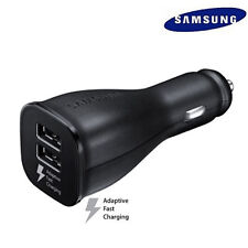 OEM Original Samsung Dual Port Fast Car Charger for Galaxy S6 S7 Edge Black