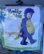 Belly Babies Plush Blue Stegosaurus Dinosaur Toddler Halloween Costume 2T-4T