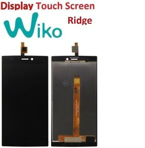 LCD WIKO RIDGE 4G TOUCH SCREEN VETRO SCHERMO DISPLAY NERO NUOVO