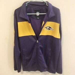 Baltimore Ravens NFL Official Purple & Yellow Zip Up Jacket Coat Men's Medium