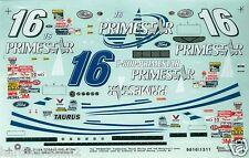 DECAL NASCAR #16 PRIMESTAR 1998 FORD TAURUS TED MUSGRAVE SLIXX