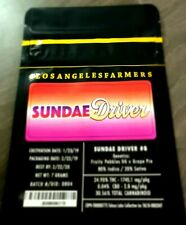 Jungle Boys Sundae Driver Black Mylar Bags x10 7g Heat Sealable Including Labels