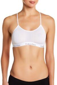 Calvin Klein CK One QF1323 Strappy Micro Mesh Bralette - White - Small #7811