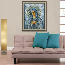 DIY 5D Diamond mosaic religious Painting the Virgin Mary Stitch Embroidery OZ
