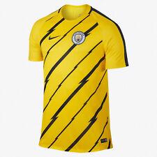 Nike Mens Manchester City Fc Dry Squad Training Soccer Jersey Yellow : M Medium