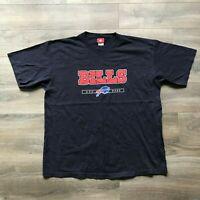 NFL Team Apparel Buffalo Bills Blue Logo T Shirt AFC East Football NY Mens XL
