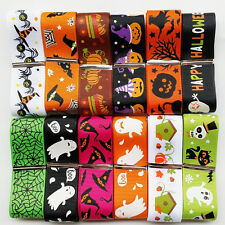 "12YARDS Assorted of 20 Styles 1"" 25mm Halloween Grosgrain Ribbon Craft Bulk Lots"