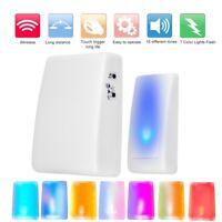 Wireless 7 Color Light Flash 3 mode music Doorbell Doorbell Deaf Doorbell Hot