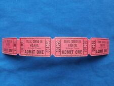 Vintage Trail Drive-In Theatre Tickets Admit One (Strip of 4) Movie/Cinema - TX