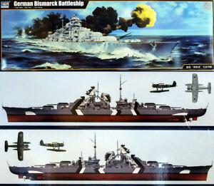 1939 Bismarck Deutsches Kriegsschiff Battleship 1:200 Model Kit Trumpeter 03702