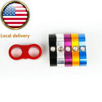 US 4PCS AN6/AN8/AN10 Braided Hose Separator Wire Clamp Fastener Fuel Oil Lines