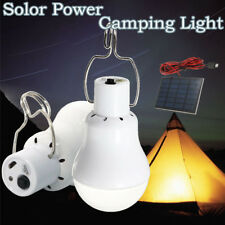 Solar Panel Powered LED Bulb Light Portable Outdoor Camp Tent Rechargeable 15w