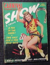 1941 April CARNIVAL SHOW Pin-Up Magazine VG+ 4.5 Girls Hollywood Art Broadway