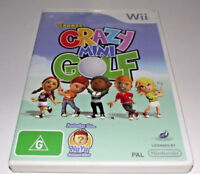 Crazy Mini Golf Kidz Sports Nintendo Wii PAL *Complete* Wii U Compatible