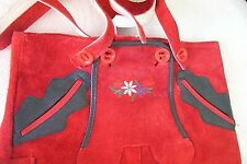 US 4 Kids,Germany,Trachten,Lederhosen with Suspenders.RED,Embroidered