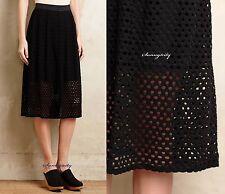 NEW Anthropologie Lasercut Midi Skirt by Weston sz M Beautiful & Versatile USA