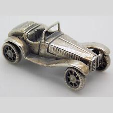 Vintage Solid Silver Italian Made Dollhouse Alfetta Car Miniature Hallmarked*