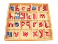 New Montessori Language Material - Small Movable Alphabet in Print with Box