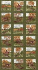 COUNTRY ROAD Fabric Blocks PANEL Moda Fabric Squares  Holly Taylor Northern Pine