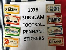 1976 SUNBEAM NFL Pennant STICKERS - Many Teams $9.99 each    YOU PICK!!!
