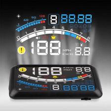 "5.5"" HUD Head-Up OBD2 Car Off-Road Dashboard Projector Speed Warning Speedometer"