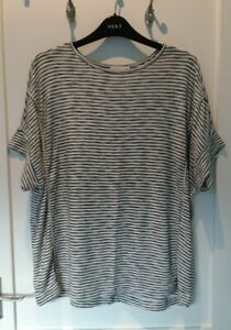 Lovely Cream & Black Striped Oversize Top from Apricot - Size 10- Great!