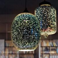 Creative 3D Firework Ceiling Lamp Light Chandelier Pendant Light Glass Shade
