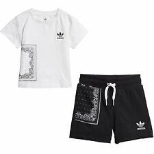 Adidas Originals Bandana T-Shirt Shorts Set Co Ord Baby Outfit DW3855