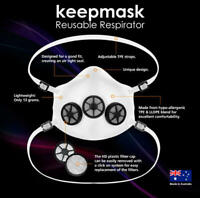 Reusable Face Mask - The KeepMask Large & Filter Replacements (48)