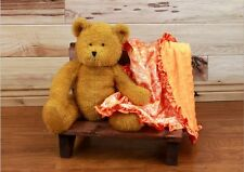 "NEW minky Nursery Baby receiving Blanket Satin Ruffle orange fall paysley 30"""