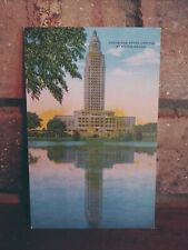 Vintage Linen Postcard Louisiana State Capitol at Baton Rouge 1950 Trip