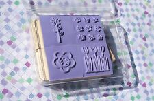 Pocket Full of Posies~ Stampin Up! 2006 Tulips Daisy Flowers Set of 4 NEW