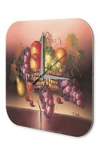 Horloge murale Décoration Aventurier  Nature morte panier de fruits Acrylglas