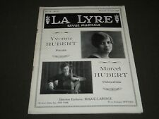1926 OCTOBER LA LYRE REVUE MUSICALE FRENCH MAGAZINE - ST 5181