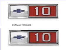 "1965 Chevrolet C10/K10 Pickup Truck Bowtie "" 10 "" Fender Emblem PAIR USA NEW!"