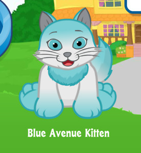 Webkinz Blue Avenue Kitten Virtual Adoption Code Only *Messaged* Webkinz Kitten!