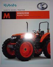 *Kubota Dealers M96S HDM Mudder Tractor Sales Brochure literature ad advertising