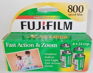 NEW FUJIFILM SUPERIA X-TRA 800 4 ROLLS 35MM FILM EXP 7/2014 SEALED BOX.