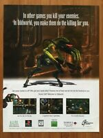 Oddworld: Abe's Oddyssey PS1 PSX Playstation 1 1997 Vintage Poster Ad Print Art